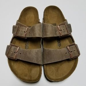Birkenstock Arizona Tobacco Leather Sandals 38